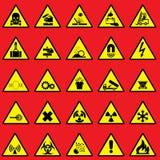 Varningstecken stock illustrationer