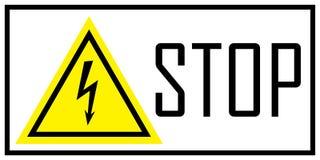 Varningstecken av fara elektricitet stock illustrationer