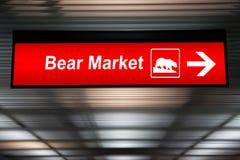Varningstecken, björnmarknad framåt Rött färga Royaltyfri Fotografi
