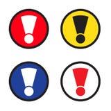 Varningstecken, faratecken Varningssymbol, farasymbol Utropsteckensymbol, knapp för rengöringsduk Arkivbilder