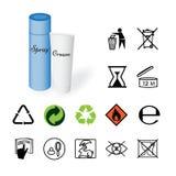 Varningstecken, miljö- tecken, produkt Royaltyfria Bilder