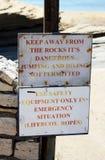 varningsteckenvarning Arkivfoto