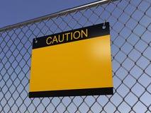 Varningstecknet Fotografering för Bildbyråer