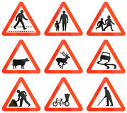 Varningsvägmärken i Bangladesh Royaltyfri Bild