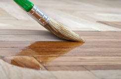 Varnish brush Stock Images