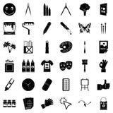 Varnish icons set, simple style. Varnish icons set. Simple set of 36 varnish vector icons for web isolated on white background Royalty Free Stock Photos