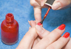 Varnish nails Royalty Free Stock Image