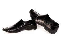 The varnished black man's shoes Royalty Free Stock Photography
