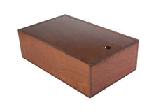 The varnished decorative casket isolated Stock Photo