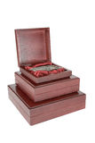 The varnished decorative casket isolated Royalty Free Stock Photo