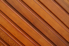 Varnished planking. Close-up of varnished planking as a background Stock Photography