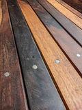 Varnished wooden board Stock Photo