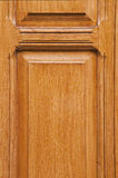 Varnished wooden door Royalty Free Stock Image