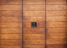 Varnished wooden door. Royalty Free Stock Photography