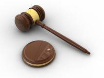 Varnished wooden gavel Royalty Free Stock Images