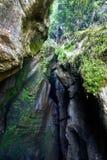 Varone瀑布加尔达湖, Varone, Trentin峡谷的看法  库存图片