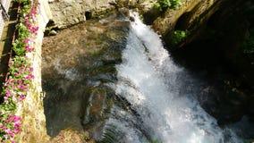 Cascate Del Varone Trentino Alto Adige. The Varone waterfalls are located in the municipality of Tenno, in the province of Trento, 3 km from Riva del Garda royalty free stock photography