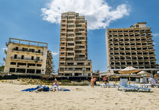 Varosha the abandoned Ghost city in Famagusta .Northern Cyprus. Royalty Free Stock Photo