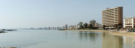 Varosha ghost town panorama Stock Photo