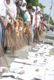 Varra a ação anticorrupção das varas a estudante Fotos de Stock