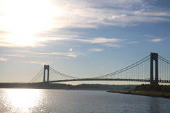 Varrazano-Narrows Bridge. The Verrazano-Narrows Bridge , The largest and longest bridge in New York City royalty free stock photo