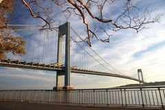 Varrazano-Narrows Bridge. The Verrazano-Narrows Bridge , The largest and longest bridge in New York City stock image