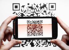 Varredor do móbil do código de QR Imagem de Stock Royalty Free