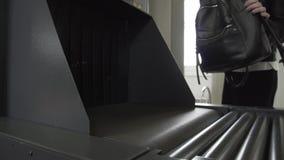 Varredor do raio X para a bagagem video estoque