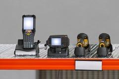 Varredor Handheld do código de barras Imagem de Stock Royalty Free