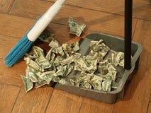 Varredura 9 do dinheiro fotografia de stock