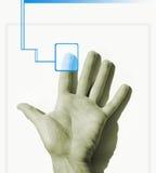 Varredura da mão Fotografia de Stock Royalty Free