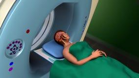 Varredura da ressonância magnética (varredura de MRI) Imagens de Stock