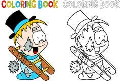 Varredura de chaminé - livro para colorir Fotografia de Stock Royalty Free