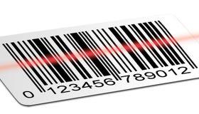 Varredura do código de barras Imagens de Stock Royalty Free
