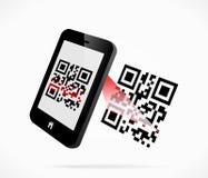 varredura do QR-código Imagens de Stock