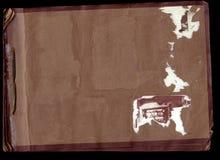 Varreduras velhas do álbum de foto (trajetos de grampeamento do inc) Foto de Stock