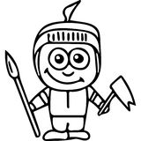 Varrior kids coloring page Royalty Free Stock Images