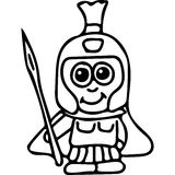 Varrior kids coloring page Royalty Free Stock Image
