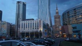 Varsóvia é, Varsóvia está mudando Fotos de Stock
