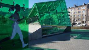 Varsóvia é, Varsóvia está mudando a estação metropolitana Stadion Foto de Stock Royalty Free