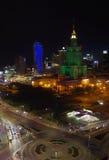 Varsóvia em Noite Imagens de Stock Royalty Free