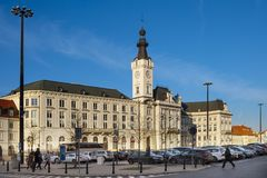 Varsóvia, Polônia - construção do palácio de Jablonowski no quadrado a do teatro foto de stock royalty free