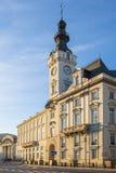 Varsóvia, Polônia - construção do palácio de Jablonowski no quadrado a do teatro fotografia de stock royalty free