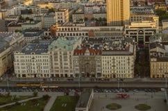 VARSÓVIA, POLÔNIA - 22 DE MAIO DE 2018 Opinião aérea do zangão de cima de c Fotografia de Stock