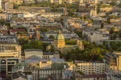 VARSÓVIA, POLÔNIA - JMAY 22, 2018 Opinião aérea do zangão de cima de Imagens de Stock Royalty Free