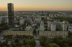 VARSÓVIA, POLÔNIA - JMAY 22, 2018 Opinião aérea do zangão de cima de Imagem de Stock