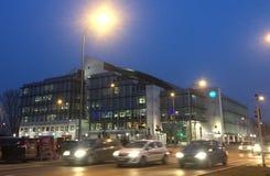 Varsóvia, Polônia: Matrizes privadas da televisão de TVN fotos de stock