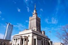 Varsóvia, Polônia, o 10 de março de 2019: Palácio da cultura e da ciência, Varsóvia imagens de stock royalty free