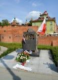 Varsóvia, Polônia As memórias de um ` do monumento dos oficiais do polonês do exército, morreram um ` mais atrasado do 17 de sete Fotos de Stock