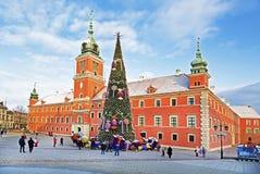 Varsóvia, quadrado do castelo Fotografia de Stock